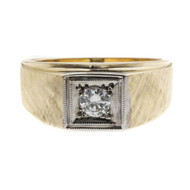 Vintage 1960 Men's Diamond Ring 14k Yellow Gold