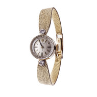 Ladies Rolex Wrist Watch Vintage 14k Yellow Gold Diamond