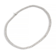 Estate Bezel Set 12.03ct Diamond Necklace Platinum High Quality
