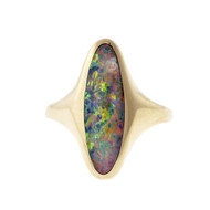 KBN Designer Fine Opal Ring 14k Yellow Gold