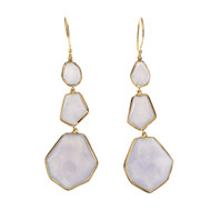 Ippolita Rock Candy Dangle Earrings Blue Moonstone 18k Yellow Gold
