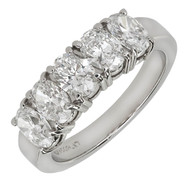 Peter Suchy Oval 5 Diamond Band Ring 2.00ct Platinum