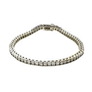 Estate 3.00ct Diamond Bracelet 14k White Gold