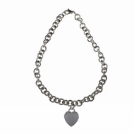 Estate Tiffany & Co Heart Tag Necklace Sterling Silver