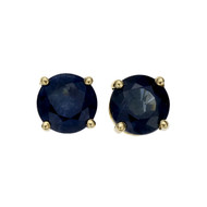 Estate 2.00ct Sapphire Stud Earrings 18k Yellow Gold