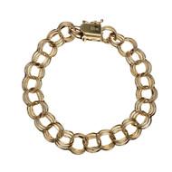 Vintage Rinegold Triple Spiral Link Charm Bracelet 14k Gold