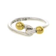 Tiffany & Co Love Knot Ring Silver & 18k Gold