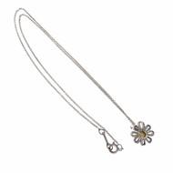 Tiffany & Co Daisy Pendant Silver & 18k Yellow Gold