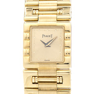18k Yellow Gold Ladies Piaget Dress Watch Quartz Gold Dial