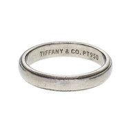 Tiffany & Co Men's Platinum Wedding Band Ring 4mm Size 9+