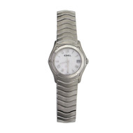 Ebel Wave Steel Ladies Wrist Watch Mother Of Pearl Dial