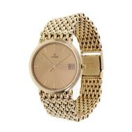 1990 Men's Solid Gold Mesh Concord Wrist Watch Quartz