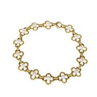 Vintage 1900 Art Nouveau Natural Pearl 18k Gold Bracelet GIA Certified