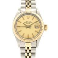 Ladies 2-Tone Rolex Date Model 6917 Wrist Watch 14k & Steel