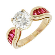 Peter Suchy GIA Certified Engagement Ring 1.59ct 18k Gold Natural Ruby