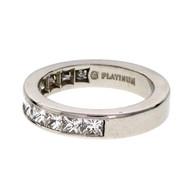 Byard F. Brogan Princess Cut Platinum Wedding Band Ring 1.00ct