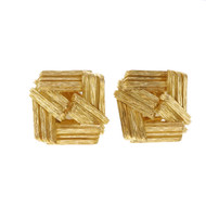 Vintage Meister 1950 18k Yellow Gold Clip Post Earrings