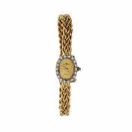 14k Baume & Mercier Diamond Bezel Watch