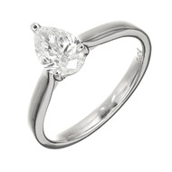 Peter Suchy .93ct Pear Shape Diamond Engagement Ring Platinum GIA Certified