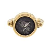 Estate Bulgari Monete Ancient Coin Ring 18k Gold