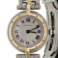 Cartier Panther Round Watch 18k Gold Steel