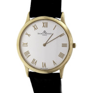 Baume & Mercier 18k Yellow Gold Wrist Watch Gold Roman Numerals