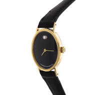 Movado Oval Museum Watch Ladies 14k Yellow Gold Manual Wind Zenith Movement