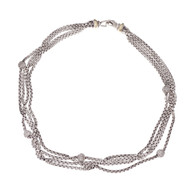 David Yurman Multi Strand Diamond Necklace 18k Yellow Gold Diamond