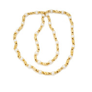 Bulgari Passo Doppio Pearl Gold 2 Necklace Set