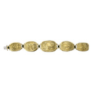 Seidengang Athena 18k Gold Bracelet Emerald Cabochons