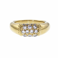 Van Cleef & Arpels Philippine Diamond Dome Ring 18k Yellow Gold