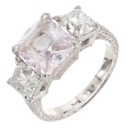 Peter Suchy 4.66 Carat Pink Sapphire Diamond Engagement Ring