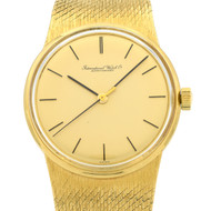 International Watch Co. Dress Wrist Watch 18k Gold Mesh Band