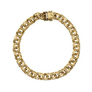 Vintage 1960 Charm Bracelet Double Spiral Link Solid 18k Yellow Gold