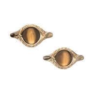 Versace Tiger Eye Cuff Links 18k Gold Diamond