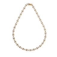 Cartier Vintage Equestrian Theme 18k Gold Chain Necklace 10 Inches