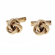 Lindsay Knot Cuff Links 14k Yellow Gold