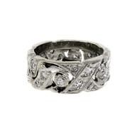 Vintage Diamond Wedding Band Ring Circa 1940 14k Gold Size 5.5