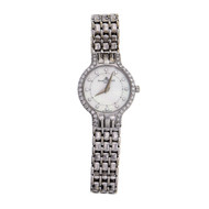 Baume & Mercier Ladies 14k White Gold Wrist Watch Diamond Mother Of Pearl