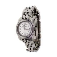 Ladies Baume & Mercier Capeland Watch Stainless Steel Diamond Quartz Date