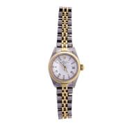 Ladies Rolex 2-Tone Date 18k & Steel Model 6917 White Dial