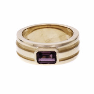 Tiffany & Co Rhodolite Garnet Atlas Ring 18k Gold