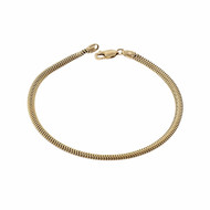 14k Yellow Gold Snake Bracelet