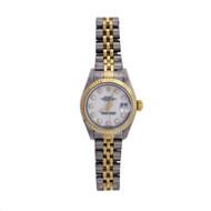 Ladies Rolex Datejust 18k Gold & Steel 79173 Factory White Diamond Dial