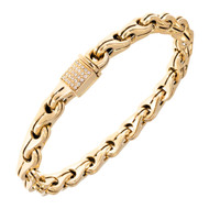 Di Modolo Men's Tempia Diamond 18k Yellow Gold Link Bracelet
