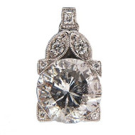 Peter Suchy Art Deco Diamond Platinum Pendant
