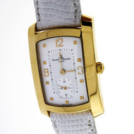 Baume & Mercier 18k Yellow Gold Hampton Milleis Quartz Watch