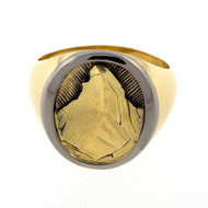 Vintage Mount Matterhorn 18k Gold Ring