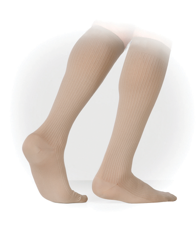 Genext Men's Business Ribbed Compression Stockings (15-20 mmHg)