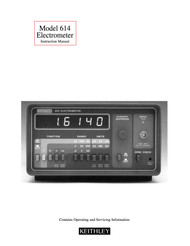614 Electrometer, Instruction Manual | Keithley
